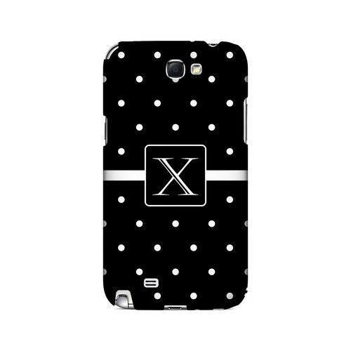 X on Classic Mini Polka Dots - Geeks Designer Line Monogram Series Hard Case for Samsung Galaxy Note 2