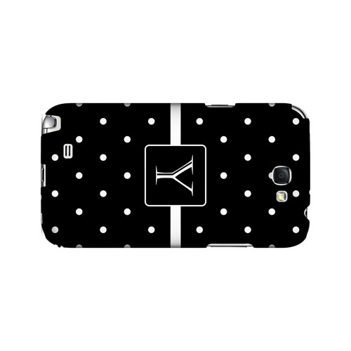 Y on Classic Mini Polka Dots - Geeks Designer Line Monogram Series Hard Case for Samsung Galaxy Note 2