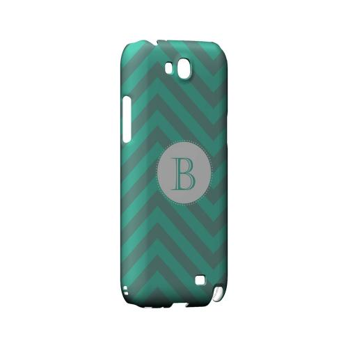 Seafoam Green B on Zig Zags - Geeks Designer Line Monogram Series Hard Case for Samsung Galaxy Note 2