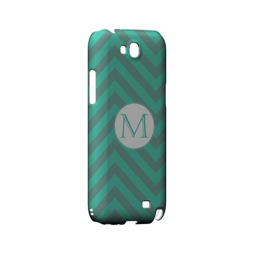 Seafoam Green M on Zig Zags - Geeks Designer Line Monogram Series Hard Case for Samsung Galaxy Note 2