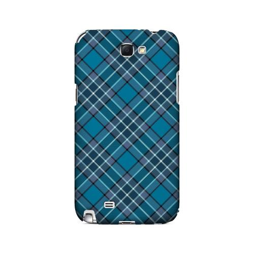 Dark Aqua/ White Plaid - Geeks Designer Line Checker Series Hard Case for Samsung Galaxy Note 2