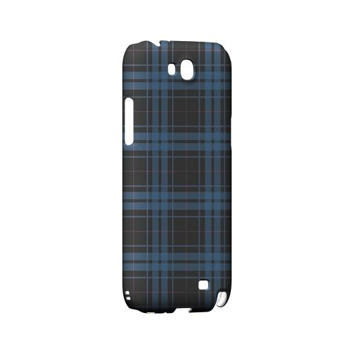 Blue/ Gray/ Pink Plaid - Geeks Designer Line Checker Series Hard Case for Samsung Galaxy Note 2