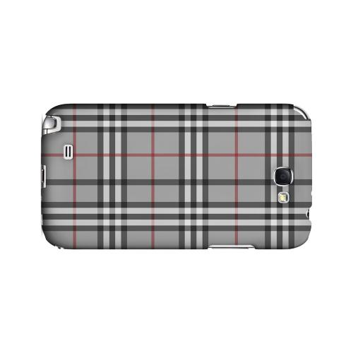 Classic Gray/ White/ Red Plaid - Geeks Designer Line Checker Series Hard Case for Samsung Galaxy Note 2