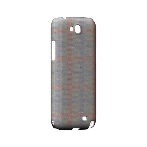 Faint Red/ Blue/ Gray Plaid - Geeks Designer Line Checker Series Hard Case for Samsung Galaxy Note 2