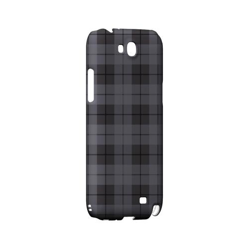 Grayish Plaid - Geeks Designer Line Checker Series Hard Case for Samsung Galaxy Note 2