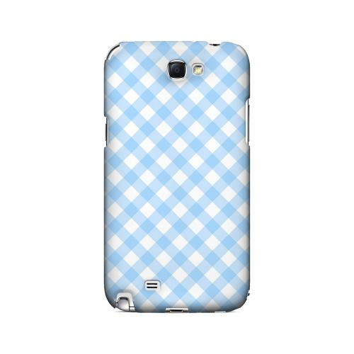 Light Blue Plaid - Geeks Designer Line Checker Series Hard Case for Samsung Galaxy Note 2