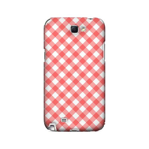 Light Red Plaid - Geeks Designer Line Checker Series Hard Case for Samsung Galaxy Note 2
