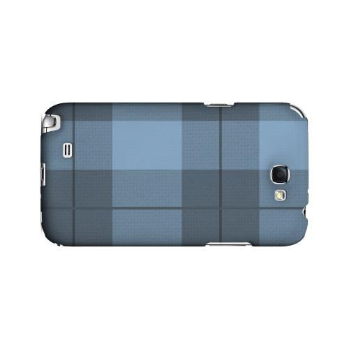 Off-Centered Zoom Blue Plaid - Geeks Designer Line Checker Series Hard Case for Samsung Galaxy Note 2
