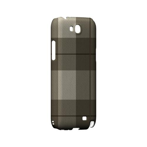 Off-Centered Zoom Brown Plaid - Geeks Designer Line Checker Series Hard Case for Samsung Galaxy Note 2