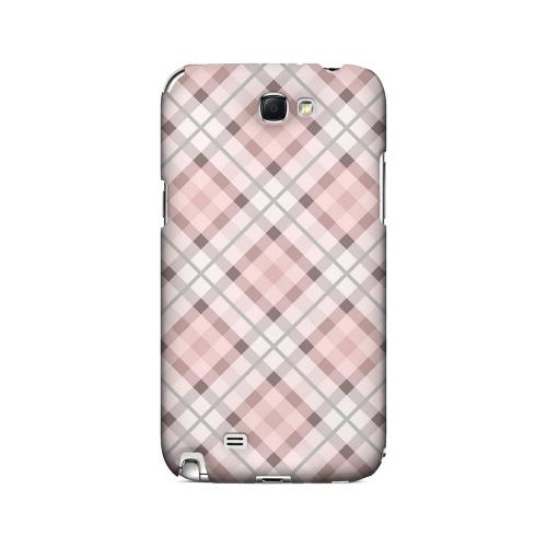 Pink/ Gray Plaid - Geeks Designer Line Checker Series Hard Case for Samsung Galaxy Note 2