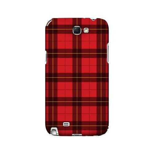Scottish-Like Plaid in Red - Geeks Designer Line Checker Series Hard Case for Samsung Galaxy Note 2