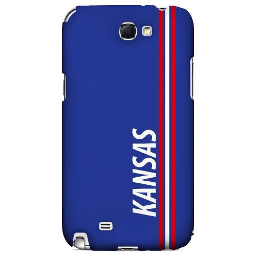 Kansas - Geeks Designer Line March Madness Series Hard Case for Samsung Galaxy Note 2