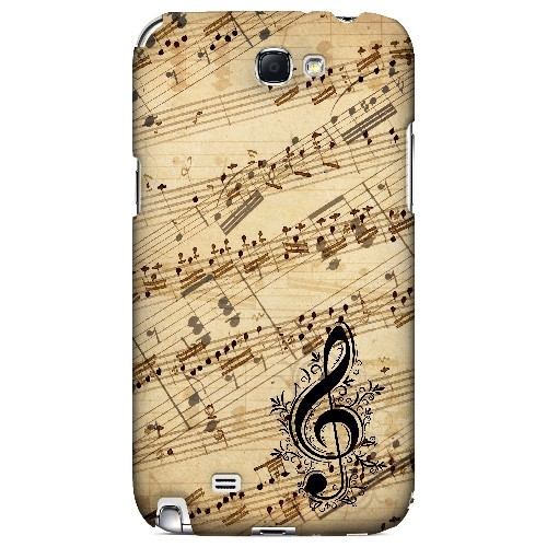 Allegro Grunge - Geeks Designer Line Music Series Hard Case for Samsung Galaxy Note 2
