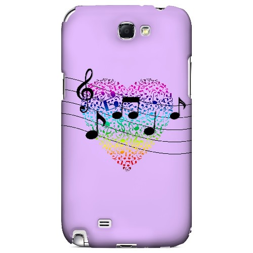 Earful of Color - Geeks Designer Line Music Series Hard Case for Samsung Galaxy Note 2