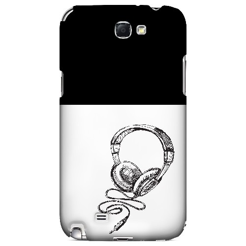 Head Bobbing Black - Geeks Designer Line Music Series Hard Case for Samsung Galaxy Note 2