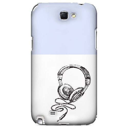 Head Bobbing Faint Blue - Geeks Designer Line Music Series Hard Case for Samsung Galaxy Note 2