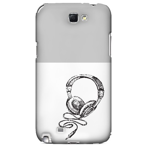 Head Bobbing Gray - Geeks Designer Line Music Series Hard Case for Samsung Galaxy Note 2