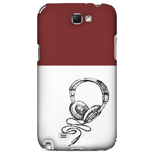 Head Bobbing Maroon - Geeks Designer Line Music Series Hard Case for Samsung Galaxy Note 2