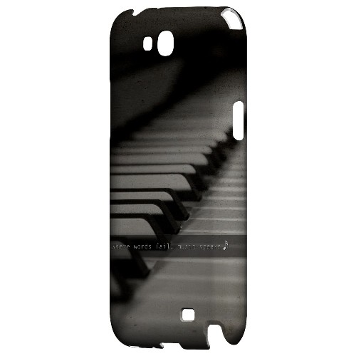 Music Speaks - Geeks Designer Line Music Series Hard Case for Samsung Galaxy Note 2
