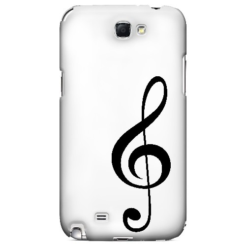 Simple Treble Clef - Geeks Designer Line Music Series Hard Case for Samsung Galaxy Note 2