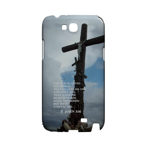 John 3:16 - Geeks Designer Line (GDL) Bible Verse Series Hard Back Cover for Samsung Galaxy Note 2