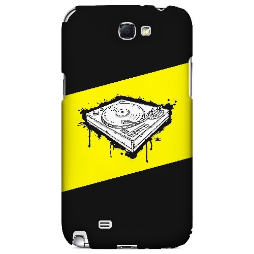 Wheel of Steel Yellow - Geeks Designer Line Music Series Hard Case for Samsung Galaxy Note 2