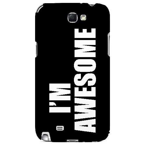 Awesome - Geeks Designer Line Humor Series Hard Case for Samsung Galaxy Note 2