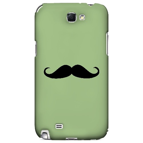 Mustache Greenish - Geeks Designer Line Humor Series Hard Case for Samsung Galaxy Note 2