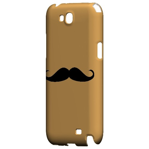 Mustache Orange - Geeks Designer Line Humor Series Hard Case for Samsung Galaxy Note 2