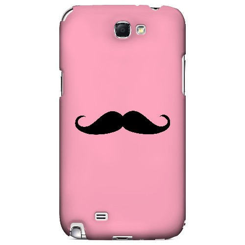 Mustache Pink - Geeks Designer Line Humor Series Hard Case for Samsung Galaxy Note 2