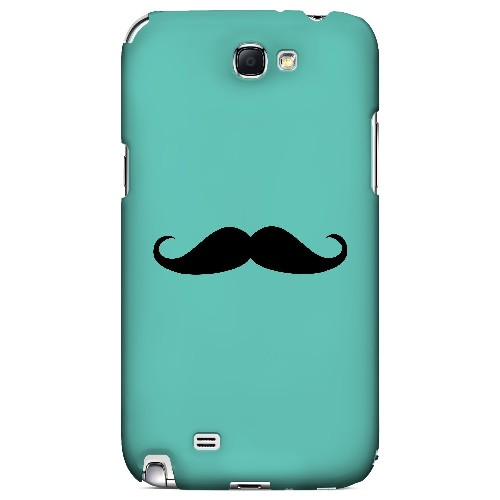 Mustache Teal - Geeks Designer Line Humor Series Hard Case for Samsung Galaxy Note 2