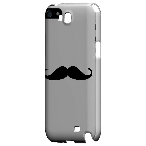 Mustache White - Geeks Designer Line Humor Series Hard Case for Samsung Galaxy Note 2