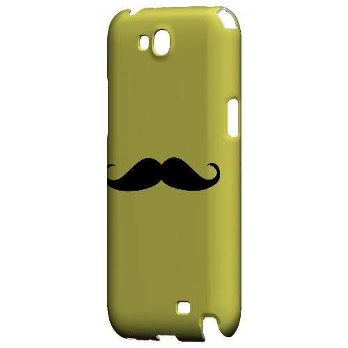 Mustache Yellow - Geeks Designer Line Humor Series Hard Case for Samsung Galaxy Note 2