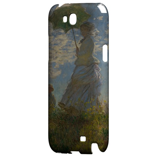 Woman with a Parasol - Madame Monet and Her Son by Claude Monet - Geeks Designer Line Artist Series Hard Case for Samsung Galaxy Note 2