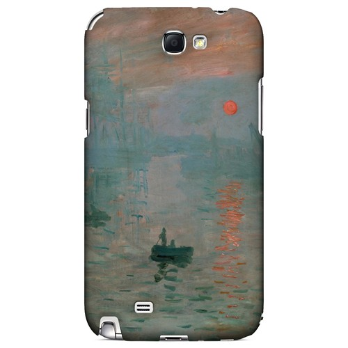 Impression Sunrise by Claude Monet - Geeks Designer Line Artist Series Hard Case for Samsung Galaxy Note 2