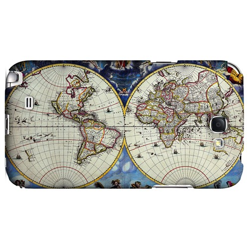 Terrarum Orbis Tabula Pictomap - Geeks Designer Line Map Series Hard Case for Samsung Galaxy Note 2