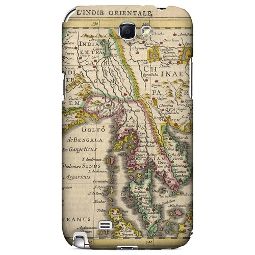 Indie Orientale - Geeks Designer Line Map Series Hard Case for Samsung Galaxy Note 2