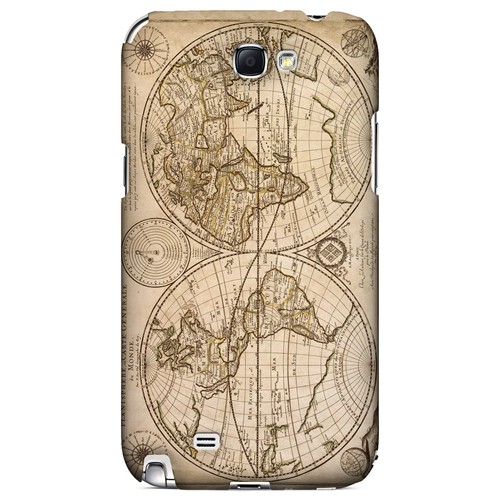 Carte Generale du Monde 1676 - Geeks Designer Line Map Series Hard Case for Samsung Galaxy Note 2