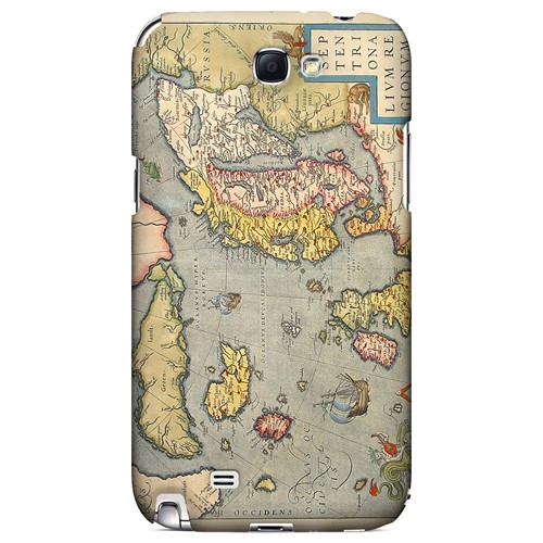 Ancient Map of Europe - Geeks Designer Line Map Series Hard Case for Samsung Galaxy Note 2