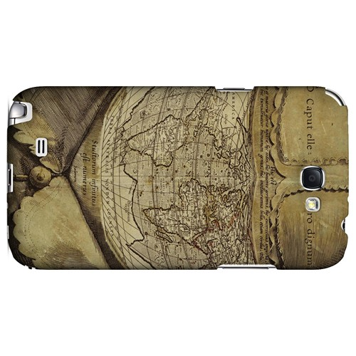 Ancient Map Head - Geeks Designer Line Map Series Hard Case for Samsung Galaxy Note 2
