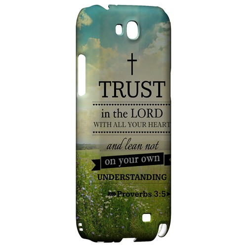 Proverbs 3:5 - Geeks Designer Line Bible Series Hard Case for Samsung Galaxy Note 2
