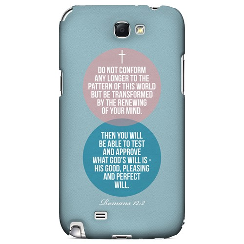 Romans 12:2 - Geeks Designer Line Bible Series Hard Case for Samsung Galaxy Note 2