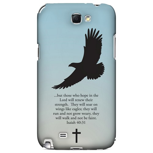 Isaiah 40:31 - Faint Blue - Geeks Designer Line Bible Series Hard Case for Samsung Galaxy Note 2