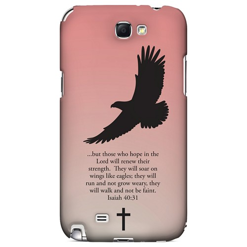 Isaiah 40:31 - Wisp Pink - Geeks Designer Line Bible Series Hard Case for Samsung Galaxy Note 2