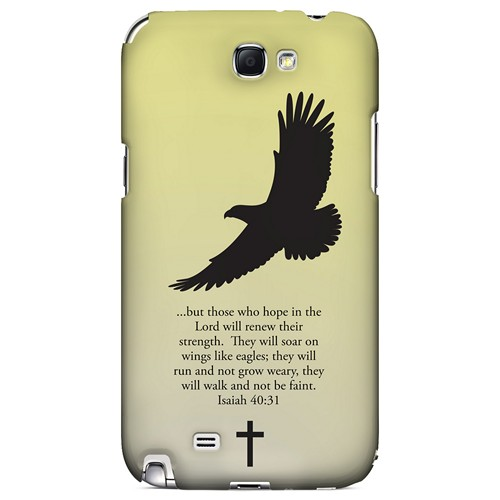 Isaiah 40:31 - Sunset Yellow - Geeks Designer Line Bible Series Hard Case for Samsung Galaxy Note 2