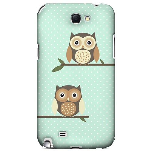 Retro Owls on Polka Dots - Geeks Designer Line Owl Series Hard Case for Samsung Galaxy Note 2