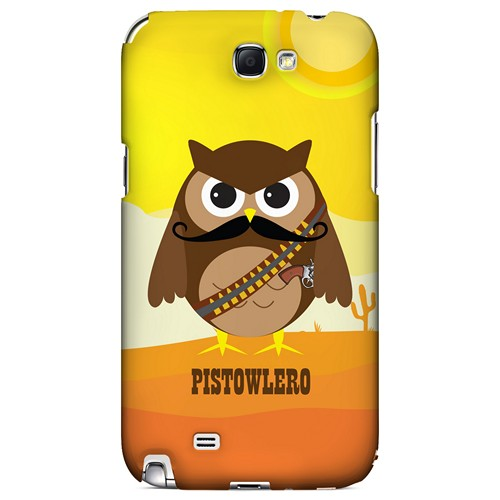 Pistowlero - Geeks Designer Line Owl Series Hard Case for Samsung Galaxy Note 2
