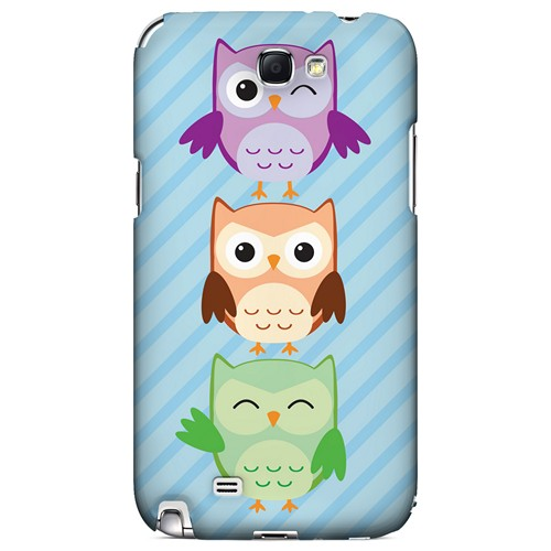 Happy Owl Pals - Geeks Designer Line Owl Series Hard Case for Samsung Galaxy Note 2