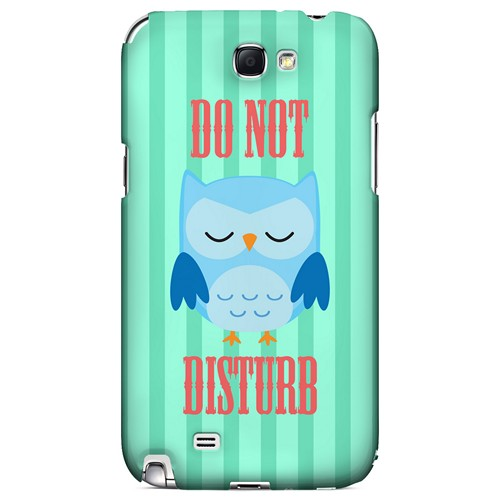 Do Not Disturb - Geeks Designer Line Owl Series Hard Case for Samsung Galaxy Note 2