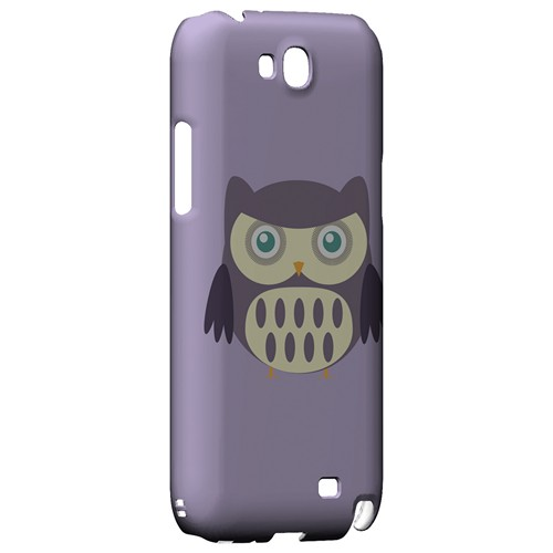 Chubby Purple Owl - Geeks Designer Line Owl Series Hard Case for Samsung Galaxy Note 2